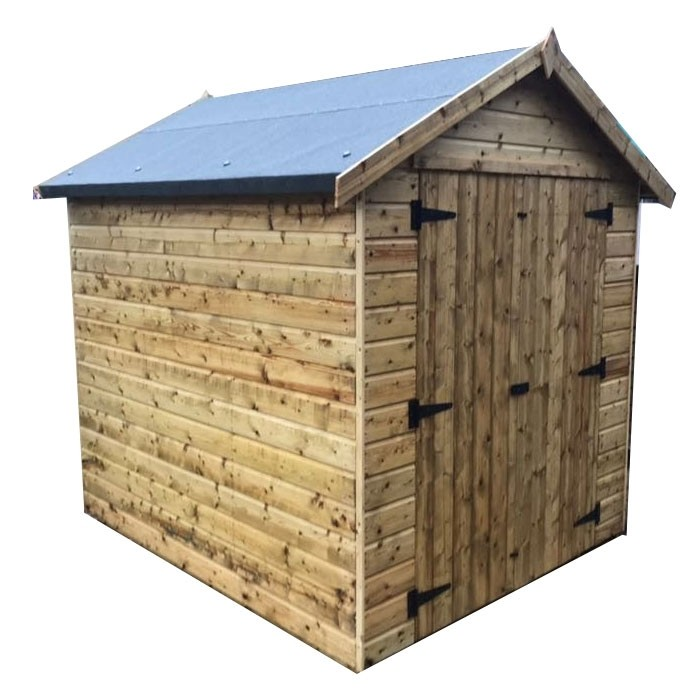 Apex Shed Front Double Doors No Windows