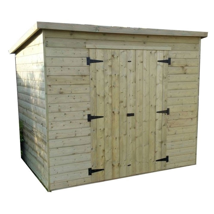Pent Shed No Windows And Front Double Doors