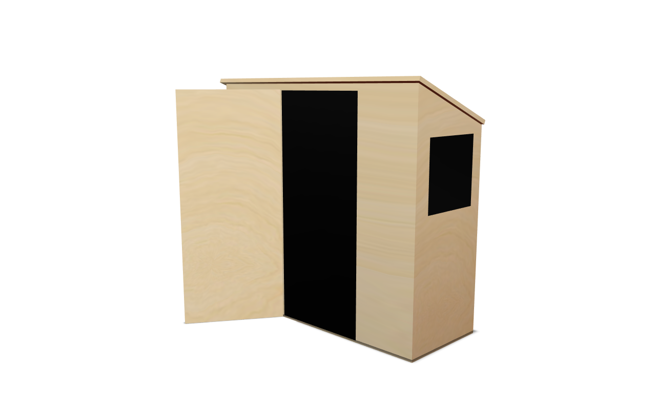 Garden Sheds UK Made Free Delivery Pent Shed 1 Side Window And Front