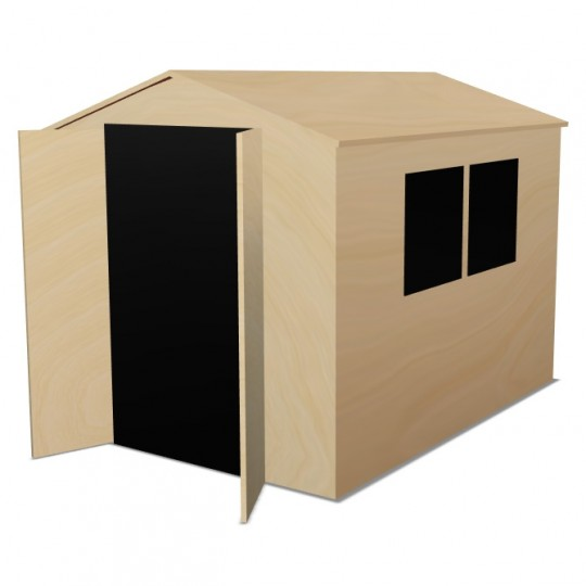 Apex Shed Front Double Doors Side Windows